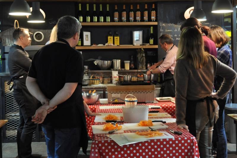 atelier cuisine de chef en groupe à lyon