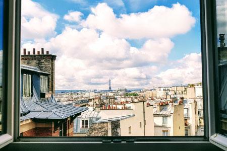 fenetre ouverte sur Paris