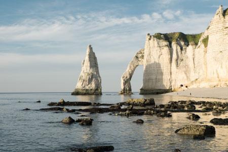 destination falaise d'Etretat en Normandie