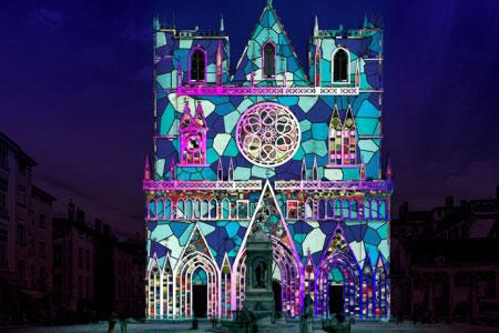 décor de la fête des lumières de Lyon