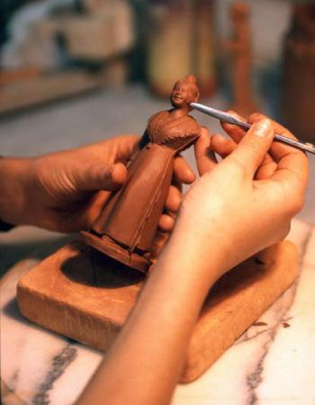 fabrication des santons