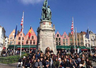 Groupe d'élèves de vacances actives linguistiques en Normandie