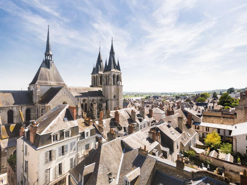 Ville de Blois vue des toits
