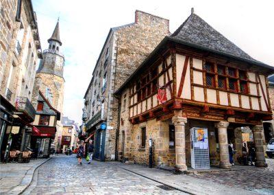 centre de Dinan en Bretagne