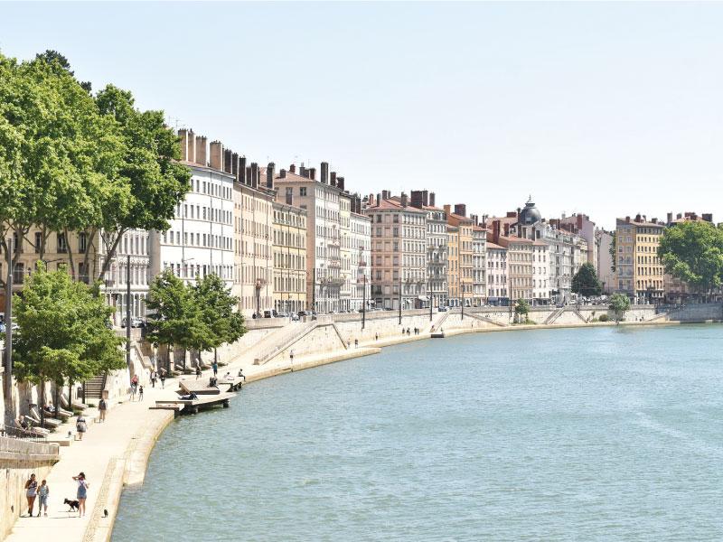 Bords de Saône à Lyon
