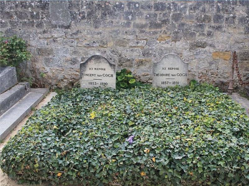 tombes de Van Gogh et son frère au cimetiere d'auvers-sur-oise